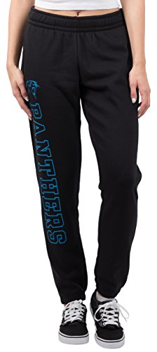 Womens Panther - NFL Women's Carolina Panthers Jogger Pants Relax Fit Fleece Sweatpants, Medium, Black