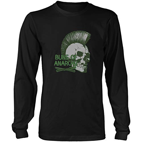 Buns of Anarchy-Cook Related Gift for Cute Cooking Lovers W Long Sleeve T-Shirt