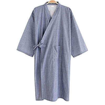 Summer & Autumn Japan Thin Hotel Spa Robe Cotton Bathrobe Sleepwear (41.73'') , l