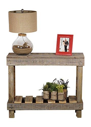 DAKODA LOVE - Rustic Barnwood Sofa Table, USA Handmade Reclaimed Wood (Natural) (Distressed Rustic Furniture)