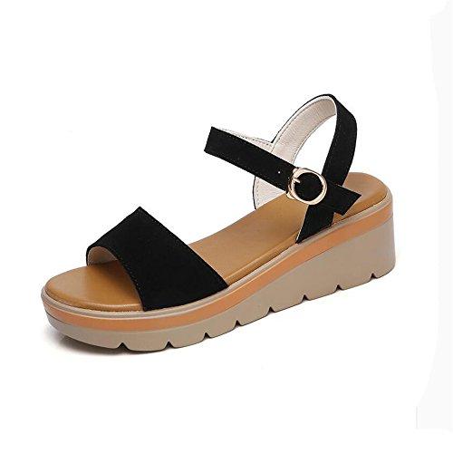 Slip Sandalias Mujer Sandalias De Moda Negro
