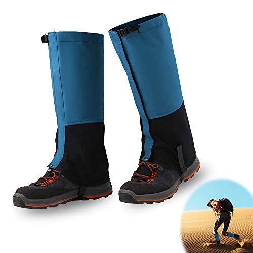 Wolfyok Hiking Leg Gaiters Sandproof Shoes Cover Protection Waterproof Snow Boot Gaiters for Outdoor Walking Skiing Camping Hunting Climbing Mountain Trimming Grass for Men Women Size XL