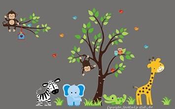 Amazon Com Nursery Wall Decals Baby Room Wallpaper Kids