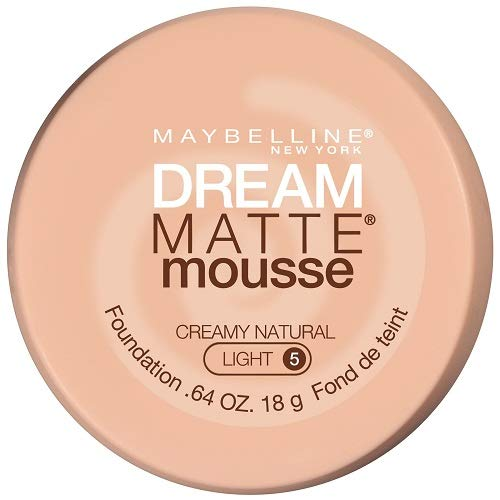 Maybelline New York Dream Matte Mousse Foundation, Creamy Natural, 0.64 fl. oz.