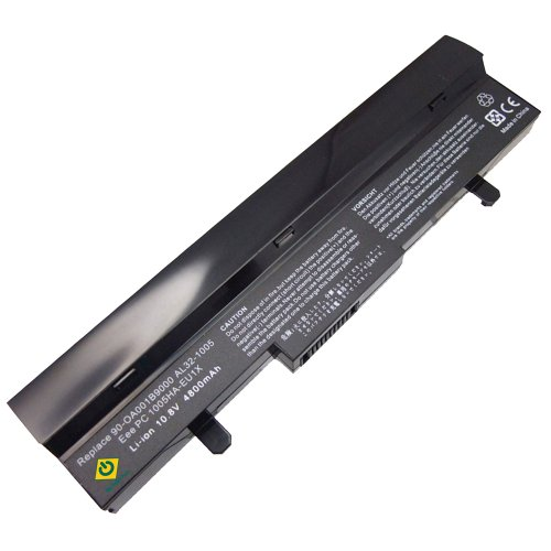 Asus Eee PC 1005 AL31-1005 AL32-1005 1005HAGB 1005HA 1005H 1005HAB 1005HA-A 1101HA 1101HAB 1101HGO 1104HA 1106HA Series 6-cells Replacement NetBook High Capacity Notebook Battery Black (Battery Large Capacity Notebook)