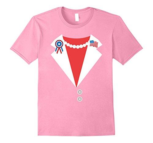Mens Hillary Clinton Pantsuit Costume Halloween T-Shirt XL (Good Double Act Halloween Costumes)
