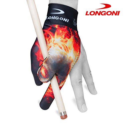 LONGONI Billiard POOL CUE GLOVE Fancy Skull 2 for Left hand