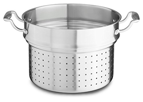 KitchenAid KCH180PIST 18/10 Stainless Steel Pasta Insert Cookware - Stainless Steel - Stainless Steel Steel Pasta Insert