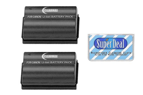 ClearMax Battery (2-Pack) of High Capacity Batteries For Canon EOS 5D, 10D, 20D, 20Da, 30D, 40D, 50D, D30, D40, And 300D/Digital Rebel SLR ()