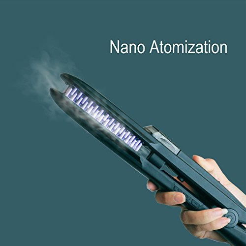 Spray Hair Straightener Brush, ManKami Ionic Steam Ceramic Hair Straightening Brush PTC Faster Heating Anion Care Anti-Scald Static Straight Comb Ion for Silky Frizz-free Hairs