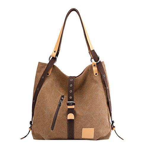 Bag for Women Lonson Totes Shoulder Bags Clutch Canvas Brown Bags Casual Handbags BUUwp1q