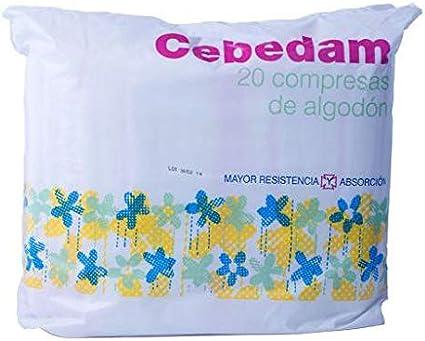 Cebedam Compresa Algodón 100% - 20 unidades: Amazon.es: Belleza