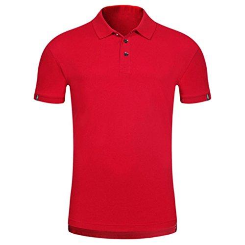 Bluestercool Hommes Polo Shirt Tops Été Casual Manches Courtes Slim Boutons T-Shirt 05