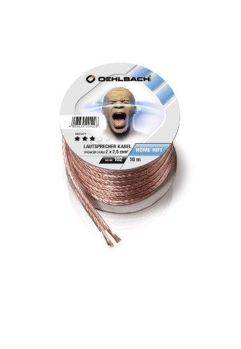 Oehlbach Speaker Wire SP-25 Lautsprecherkabel 2 x 2,5 mm², Mini-Spule glasklar 10.00 m