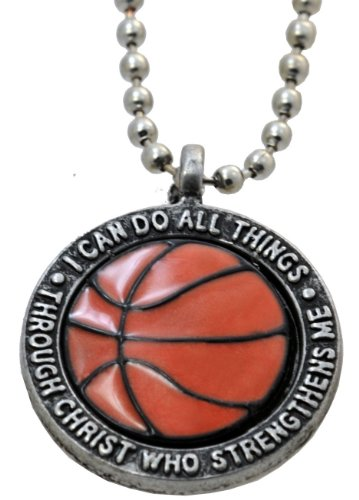 FORGIVEN JEWELRY Basketball Necklace I Can Do Philippians 413