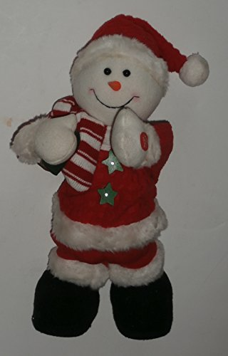 Plush Animated Singing Jingle Bells Christmas Snowman (Jingle Buddies Snowman)