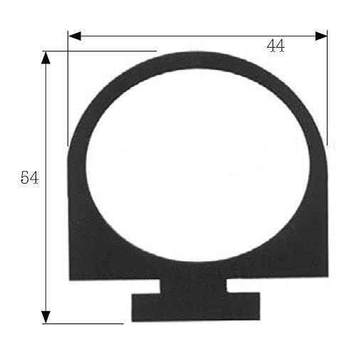 Paella Joint Profil 54x 44mm noir pour porte Cellule FP coulissantes TN/BT fil sol vente au mètre