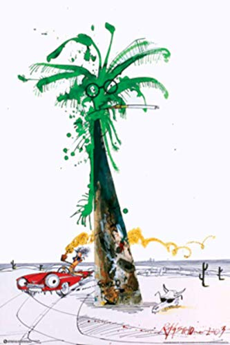 Imaginus Posters Ralph Steadman Gonzo was Here Pop Art Poster 24 x 36 inches