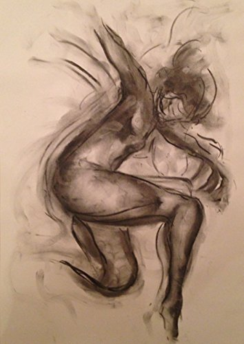 Dance - Original Charcoal Drawing by James Shipton by James Shipton Art