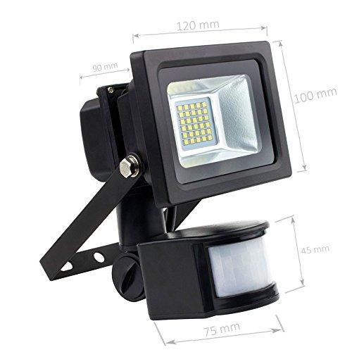 Foco Proyector LED SMD con Detector de Movimiento PIR 10W 120lm/W efectoLED: Amazon.es: Iluminación