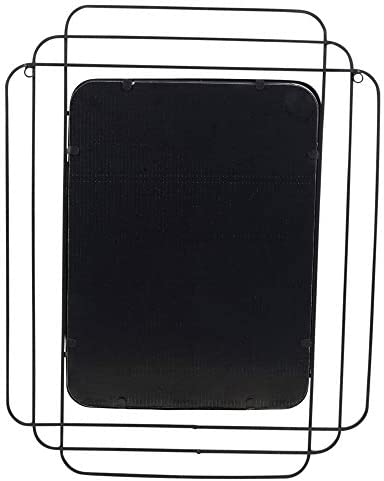 URBNLIVING Black Rectangle Mirror Mountable Hangable Bedroom Hallway Bathroom Accessory
