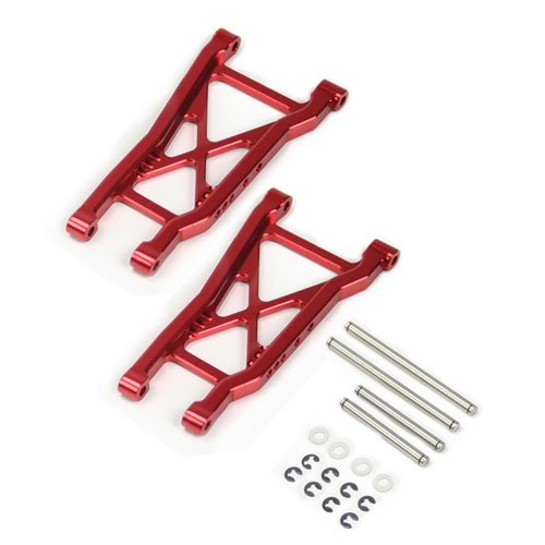 Atomik RC Traxxas Slash 2WD 1:10 Aluminum Alloy Rear Lower Arm Hop Up Upgrade, Red Replaces Traxxas Part 2555