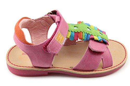 (Agatha Ruiz De La Prada Fuschia Leather Sandals (142948 Fucsia) (6.5-7 Toddler))