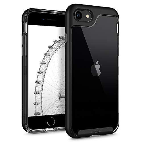 Caseology Skyfall for Apple iPhone SE 2020 Case for iPhone 8 Case (2017) for iPhone 7 Case (2016) - Matte Black