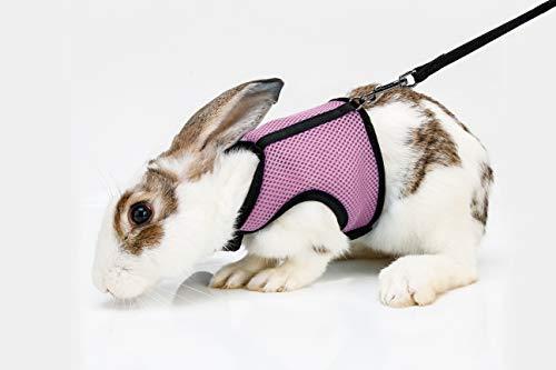 VYBDS Soft Rabbits Harness Leash (Pink)