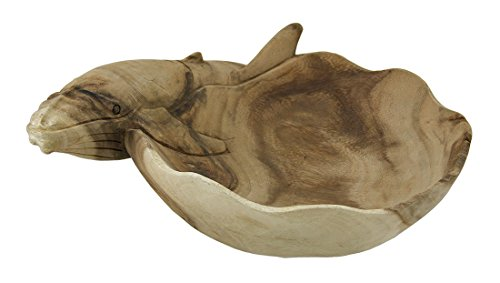 Wood Decorative Bowls Decorative Carved Wood Whale Design Centerpiece Bowl 11 Inch 11 X 4.5 X 8.5 Inches Natural