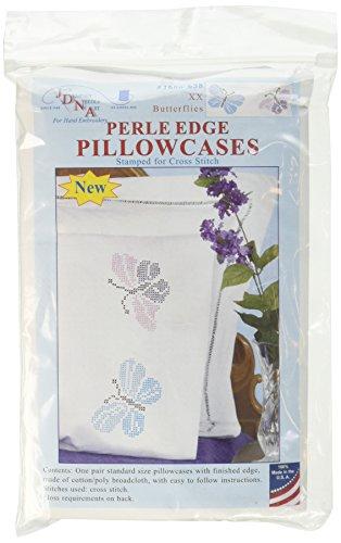 Jack Dempsey XX Butterflies Pearl Edge Pillowcases