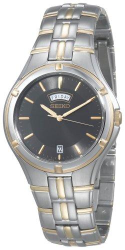 Seiko Men's SGEE38 Sporty Dress Two-Tone Watch