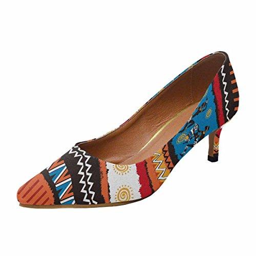 Scarpe Da Donna Low Cost Con Tallone Gattino A Punta Appuntita Scarpe Da Ginnastica Ornamento Etnico Multi 1