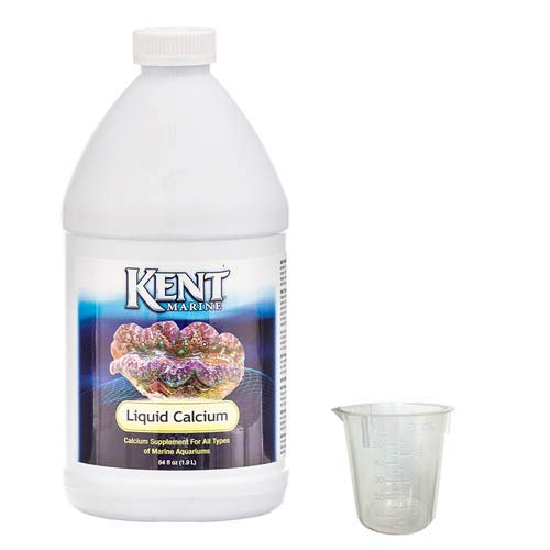 - Kent Marine Liquid Calcium 64 oz w/ 50 ml Measuring Cup Bundle