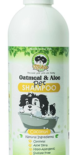 Natural Hypoallergenic Oatmeal Dog Shampoo: Itchy Dry Sensitive Skin Dandruff Wash For Large & Small Breed Adult & Puppy Dogs - Deodorizing & Moisturizing Aloe Pet Hair Grooming Formula - - Dog Oatmeal Shampoo