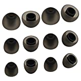 ALXCD Ear Tip for Jaybird X3 X2 X Bluebud Earphone, SML 3 Sizes 6 Pairs Soft Silicone Replacement Earbud Tips, Fit for Jaybird X2 X Bluebud Headset X3 (Black/4.5mm)