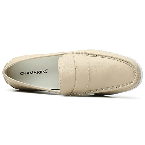 Men Loafers cm Shoes CHAMARIPA H81C19K181D 6 Driving Enhanced Creamy for white Plat Casual 6B5xqT