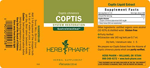 Herb Pharm Coptis Extract for Digestive Support – 4 Ounce