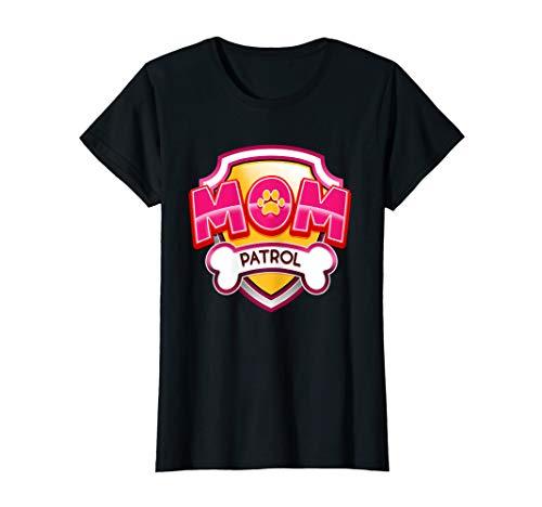 Womens Funny Mom Patrol T-Shirt - Dog Mom T-Shirt ()