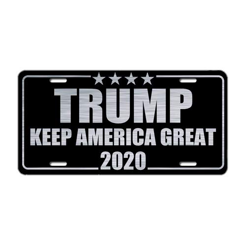 License Plate Cover Trump Keep America Great 2020 Printed Auto Truck Car Front Tag Metal License Plate Frame Cover 6