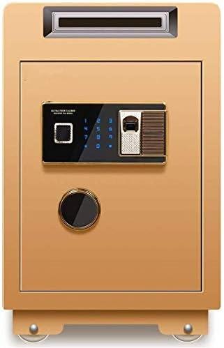 耐久性のあるコイン式金庫指紋盗難防止内閣60センチメートル高いオフィスホームスーパーマーケットのレジボックスすべてのスチール - 家族やお店のための理想的な(色:Brown1、サイズ:60x40x36cm) Elise (Color : Gold2, Size : 60x40x36cm)