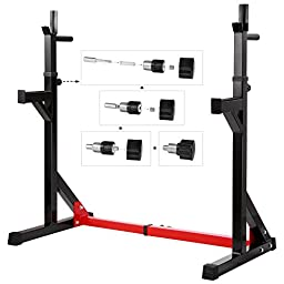 Ollieroo Multi-function Barbell Rack Dip Stand Gym Family Fitness Adjustable Squat Rack Weight Lifting Bench Press Dipping Station