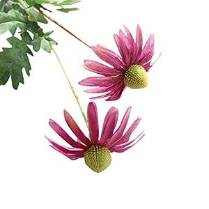Mandystore Artificial Flowers Aster Chrysanthemum Floral Bouquet Party Decor (Purple) 12
