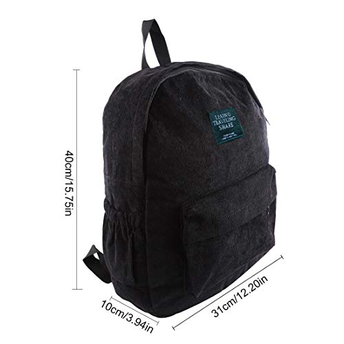 94x15 Shoulders Bag 75In Corduroy Backpack Backpack Design Simple Thicken 12 Women Black PINCHUANGHUI Fashion 2x3 n8nqS7xB4