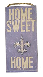 Amazon.com : New Orleans saints Wall decor Wood plaque Home sweet ...