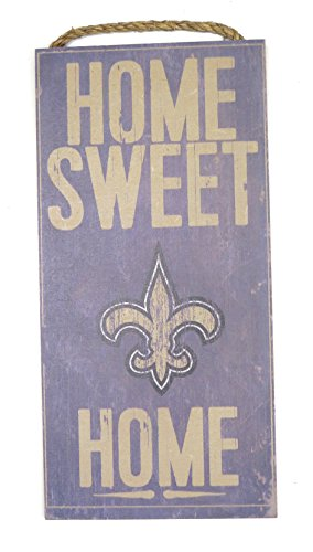 New Orleans saints Wall decor Wood plaque Home sweet (Plaque Sweet)