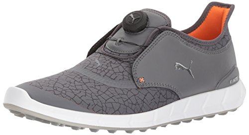 PUMA Golf Men's Ignite DISC Extreme Golf Shoe, Smoked Pearl/Silver/Dark Shadow, 9 M US