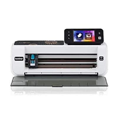 "Brother CM350 Electronic Cutting Machine, Scanncut2, 4.85"" LCD Touch Screen, Wireless Network Ready, 300 DPI Scanner, 631 Built-in Designs (Renewed)"