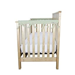 Trend Lab Fleece CribWrap Rail Covers for Crib Sides (Set of 2), Sage, Narrow for Crib Rails Measuring up to 8\