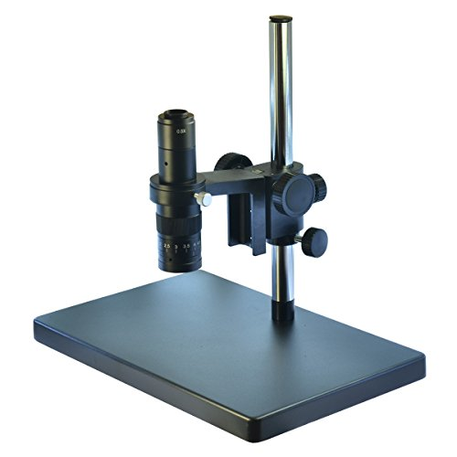 Big Heavy Duty Metal Boom Stereo Microscope Camera Table Stand Holder 50mm Ring +180X Zoon C-mount Lens (180X Zoon Lens) by Generic